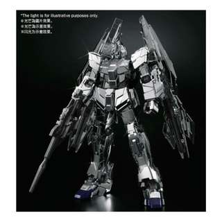 P-BANDAI HG 1/144 UNICORN GUNDAM 03 PHENEX type RC [UNICORN MODE] SILVER COATING Ver.