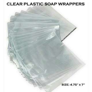 Clear Plastic Soap Wrappers