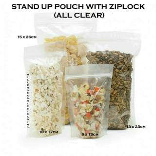 Stand Up Pouch w/ Ziplock (All Clear)