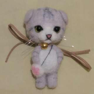 貓貓 羊毛氈 公仔