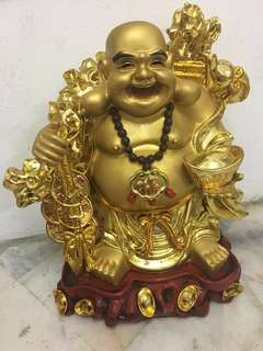 Vintage solid laughing Buddha