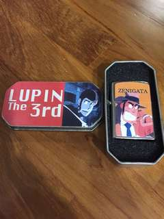 NEVER USED BEFORE! Vintage Lupin the 3rd Inspector Zenigata Collectors Lighter