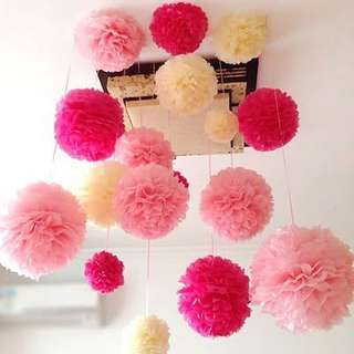 Pom Pom Paper Flower Ball Birthday Wedding Party Decoration