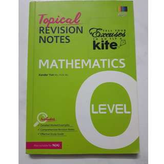 O Level Topical Revision Notes - Maths
