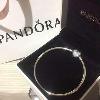 Pandora 潘朵拉 愛心鑽 手環 手鐲 手鍊