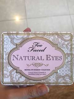 Preloved too faced natural eyes palette