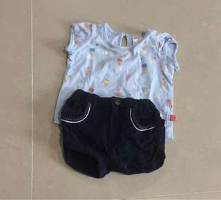 Miki baby Shirt & Fiffy Coudroy Short