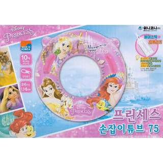 (Free Delivery) Disney Princess 75cm Large Inflatable Swimming Ring Float with Handle