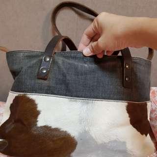 Authentic Miu Miu Denim Calf Hair Bag
