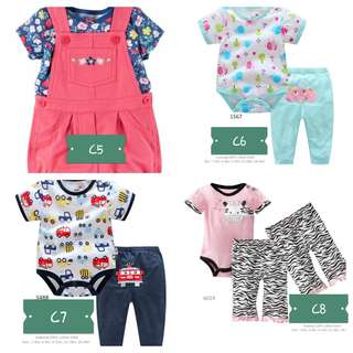 Baby Romper and overall set