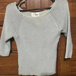 Knitted Three-Fourths (Croptop)