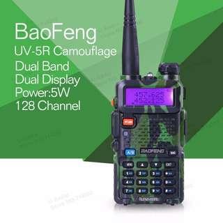 New Stock!!! BaoFeng UV-5R UV5R Walkie Talkie Dual Band VHF/UHF136-174Mhz & 400-520Mhz (CAMO) Hi power, 3d generation