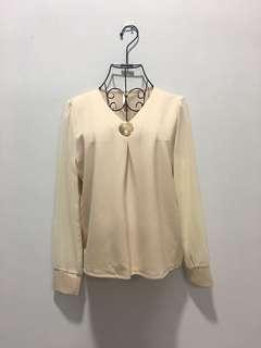 🌹New - Korea Cream blouse 129