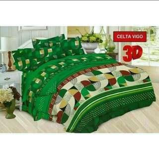 Seprei Bonita ukuran 180x200 dan 160x200 motif Celta vigo