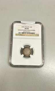 1898 Victoria 10 cents