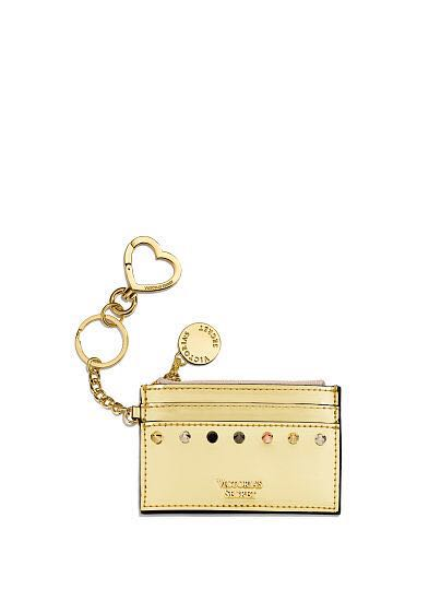 [官網最新 全新 現貨 含吊牌] Victoria's Secret 維多利亞的秘密 金色 卡套 卡夾 鑰匙圈 三色