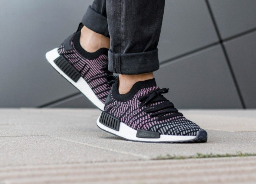 online retailer ad646 b7f58 ... promo code for adidas nmd r1 pk stlt multicolor black grey pink mens  fashion footwear on