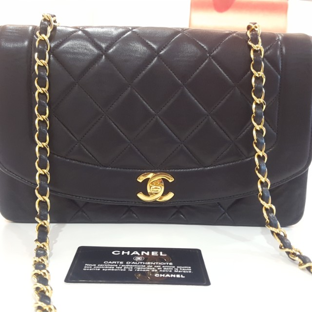efc84f7e1dc04f Authentic Chanel Vintage diana flap bag with card!, Luxury, Bags ...