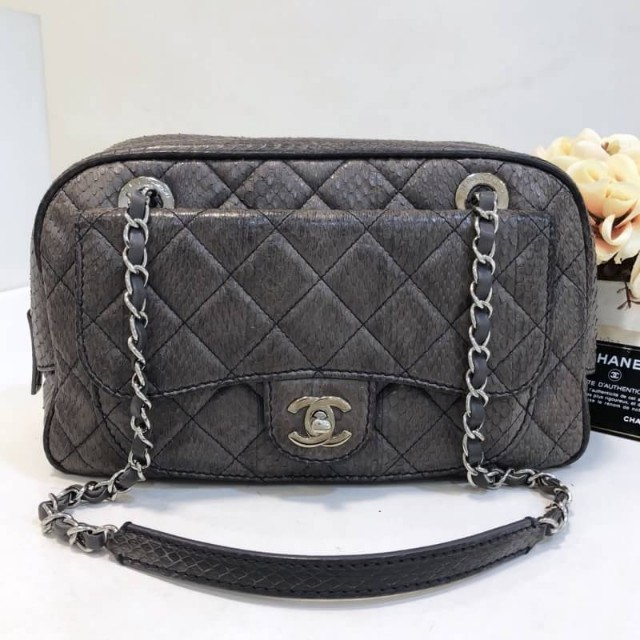 2d6b54cd45a Authentic Chanel Python Bag, Luxury, Bags   Wallets on Carousell