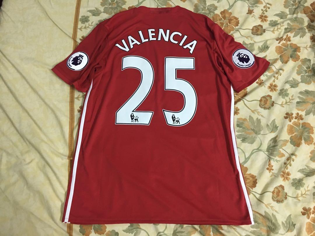 a2e2844fa Authentic Manchester United 16 17 home jersey Valencia25