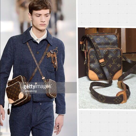 c3a057bd5bfa Authentic Vintage Louis Vuitton Amazon Crossbody Bag Monogram Leather