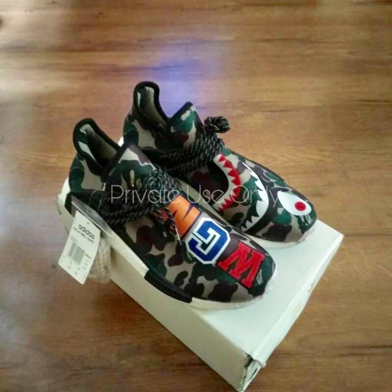 42979aaa96b2b Best Seller) BAPE  Shark WGM  x Pharrell Williams x Adidas NMD Human ...