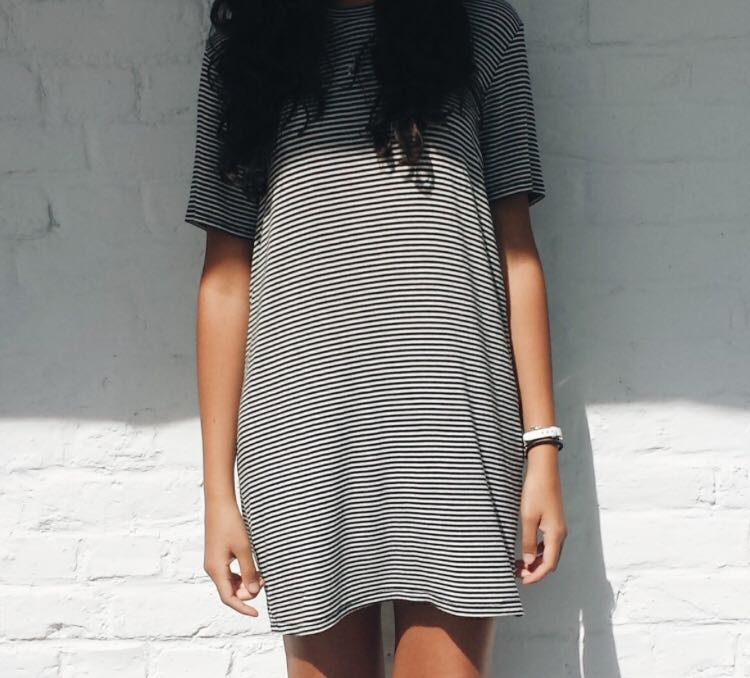 Brandy Melville black and white Tshirt dress