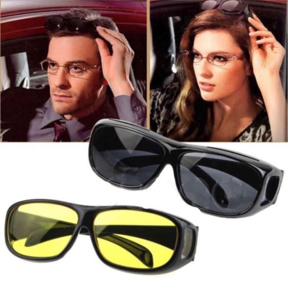 917910fe42 Day   Night Anti-glare HD Vision Wrap Around Sunglasses that Fits Over Your  Prescription Unisex Shade Glasses