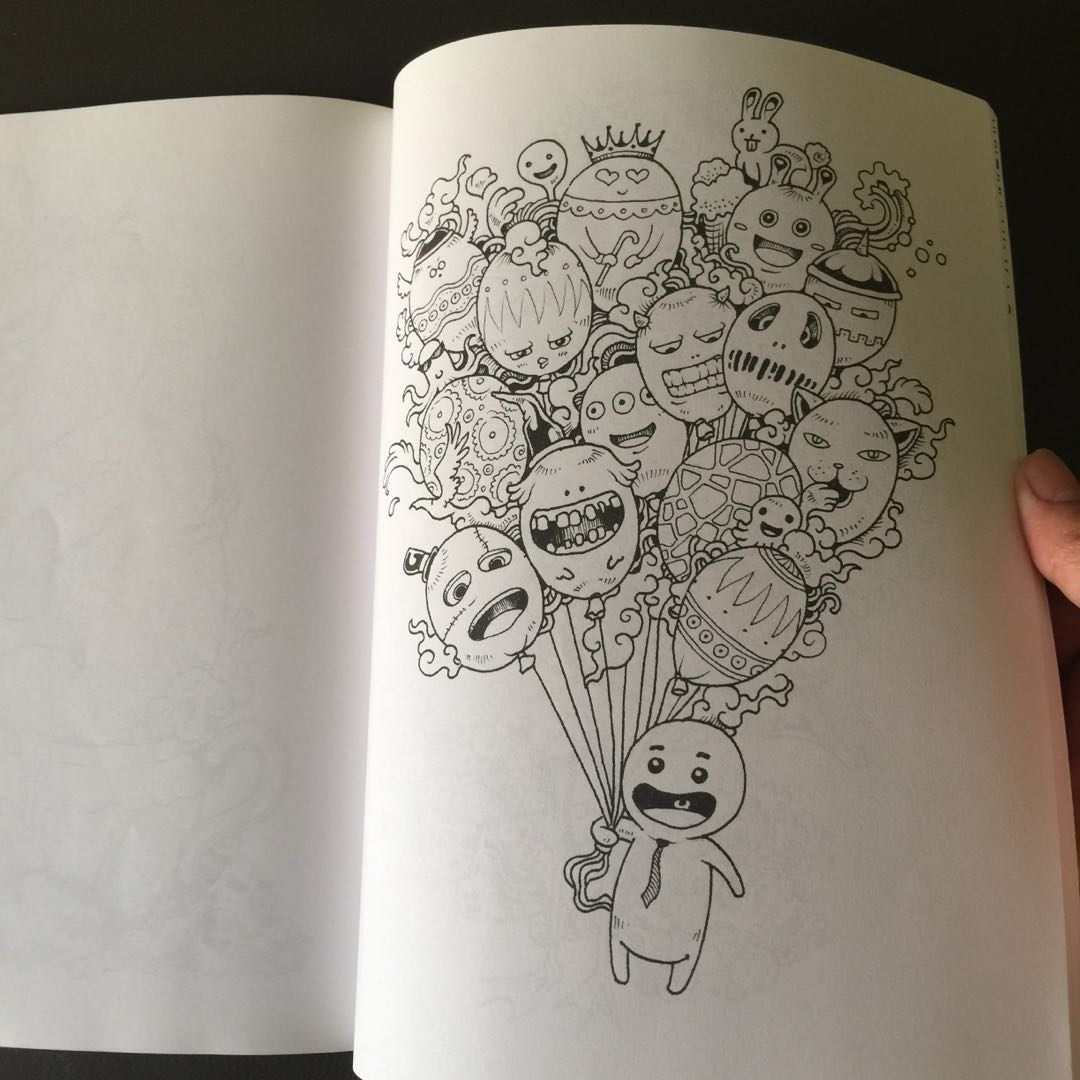 Doodle Invasion Adult Colouring Book KERBY ROSANES Books Stationery Comics Manga On Carousell