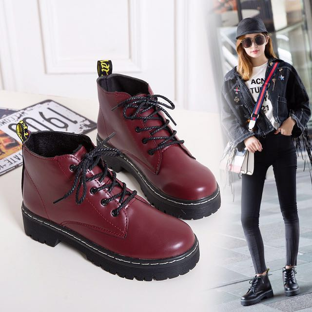 897aa7ab46be Dr Martens style Boots  shoes flats heels  kpop Korean ulzzang jpop ...