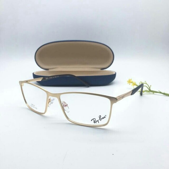 Frame kacamata minus baca rayban besi kotak pria wanita 8ab41aa15f