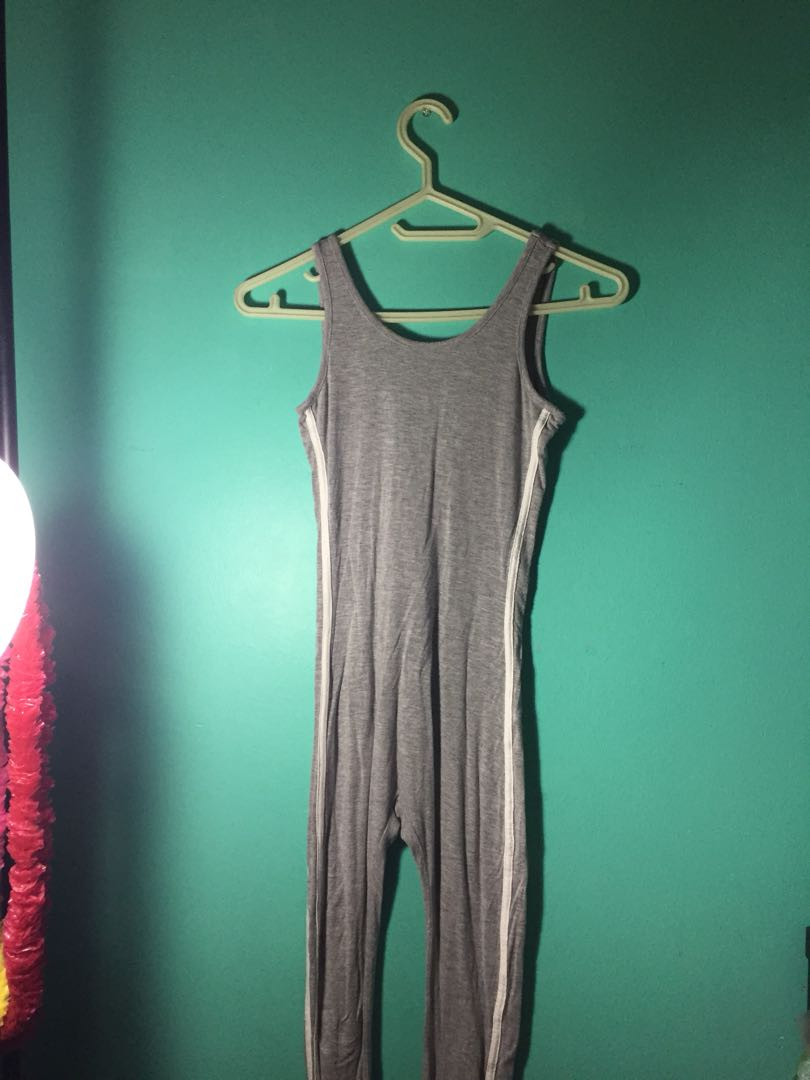 Grey backless jumpsuit