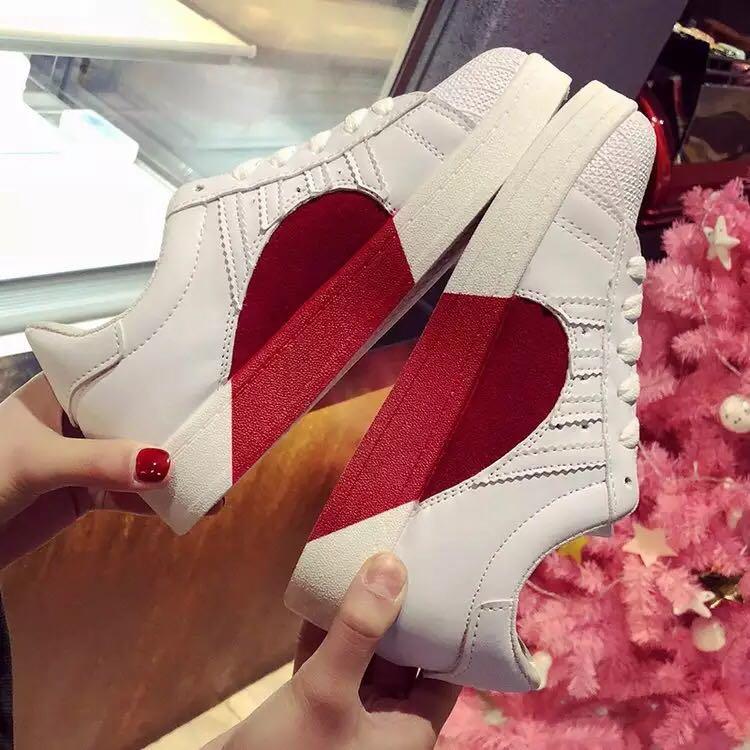 Ispirato Da Adidas Superstar Degli Anni '80 Mezzo Cuore Le Scarpe, La Moda Femminile