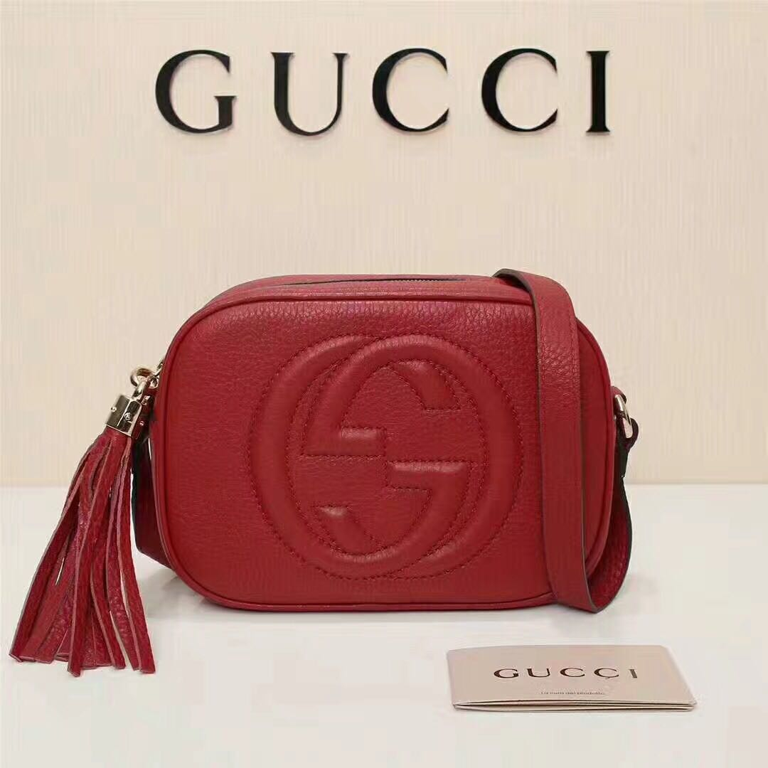 0881a63635cd INSTOCK - RED GUCCI SOHO DISCO BAG, Luxury, Bags & Wallets on Carousell