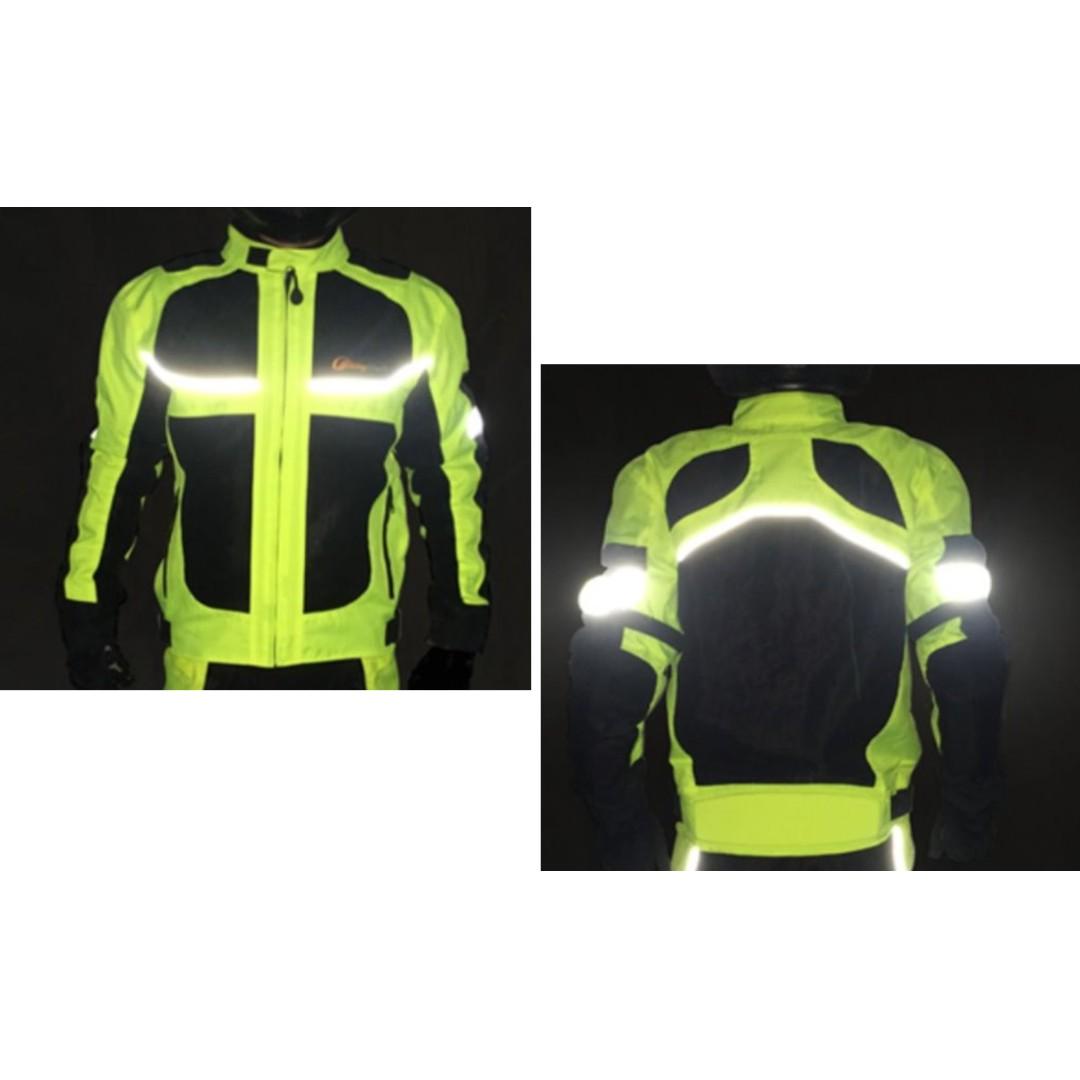INSTOCK Motorbikes / Men - Neon Reflective Stripes Riding Jacket MT5082