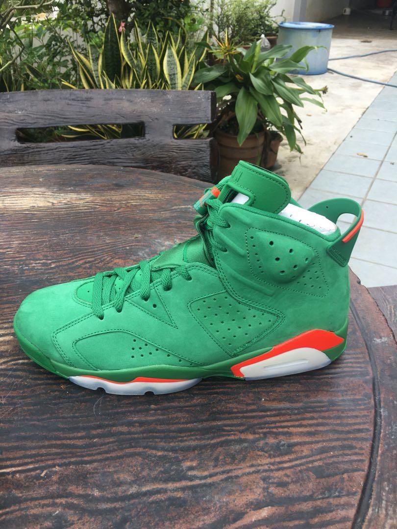 best sneakers 05249 98664 Jordan 6 Gatorade Green