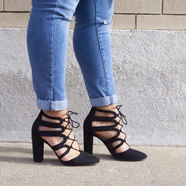 5bc00ad7aa132 lace up heels by Christian Siriano for Payless on Carousell