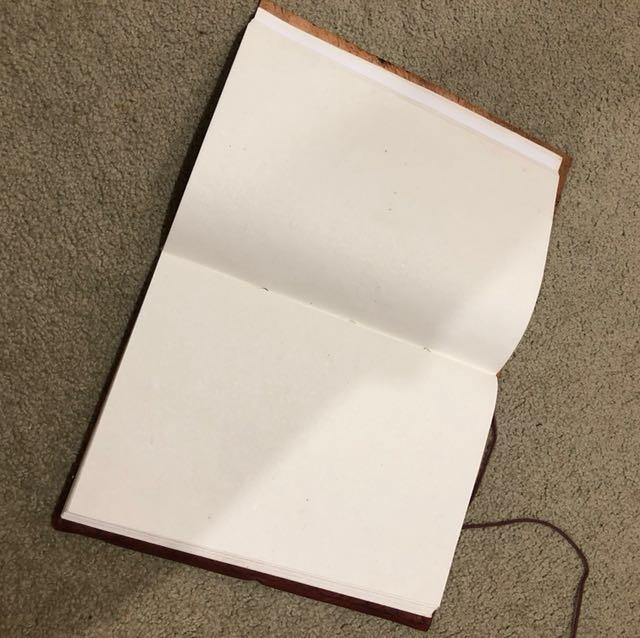 Leather bound handmade journal
