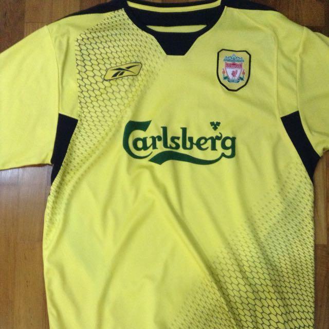 cb387064726 Liverpool Reebok Carlsberg Yellow Away Shirt