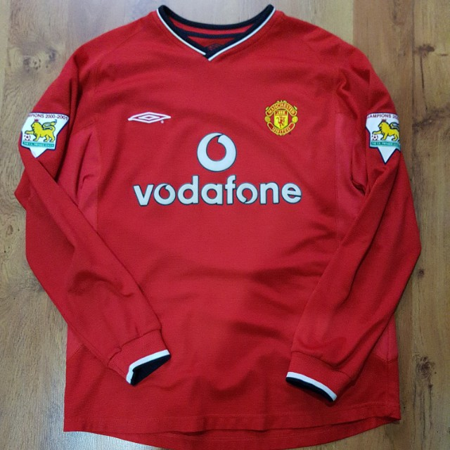 9213938cd Manchester United Long sleeve 00 02 Scholes Jersey Size M