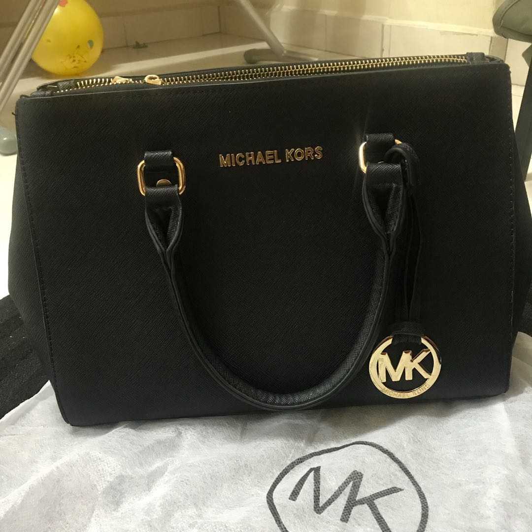 Michael Kors Sutton Medium Satchel Not Authentic Fesyen Wanita Bag Beg Dan Duit Di Carousell