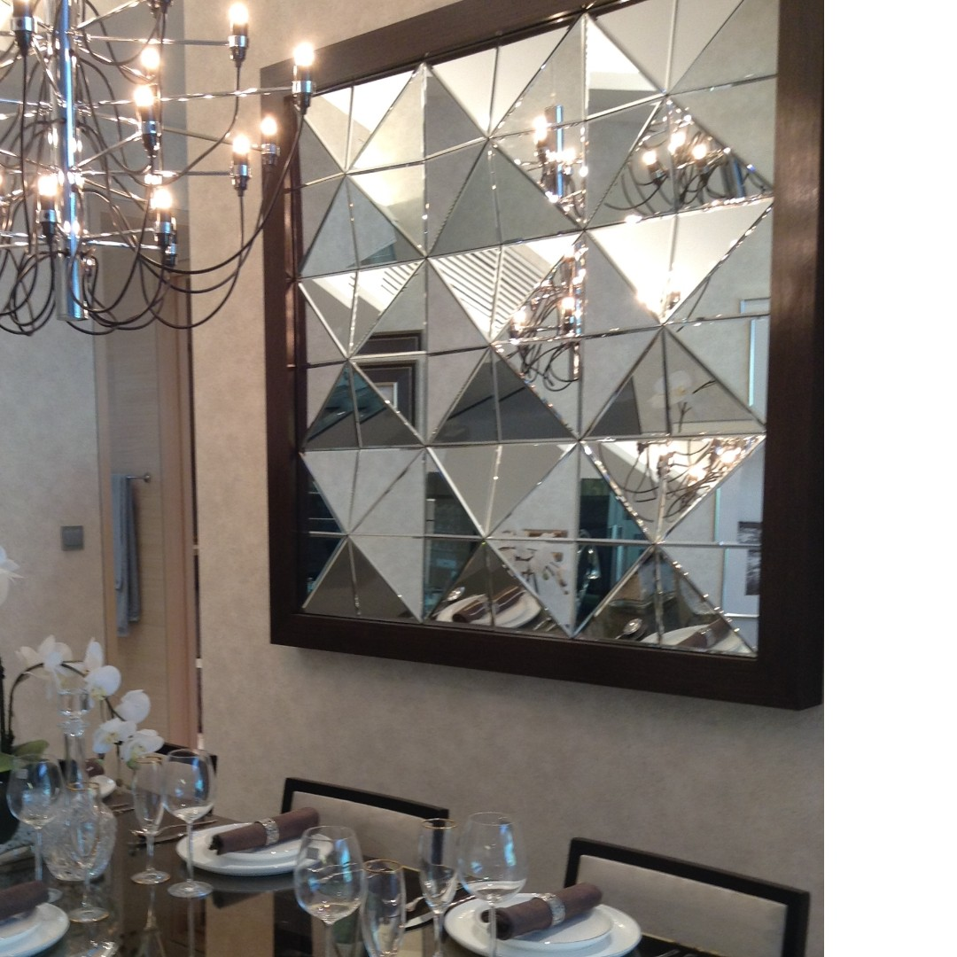 Multi Faceted Wall Mirror With Frame Furniture Home Decor On Carousell