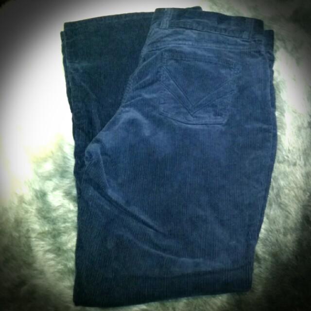Navy ladies corduroy slacks