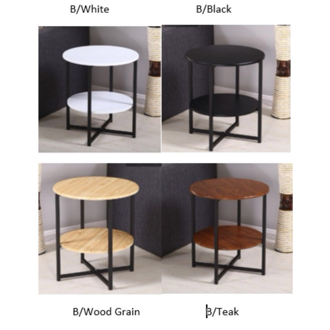 New/ 0143/ 2   Tier Round Side Table, Furniture, Tables U0026 Chairs On  Carousell