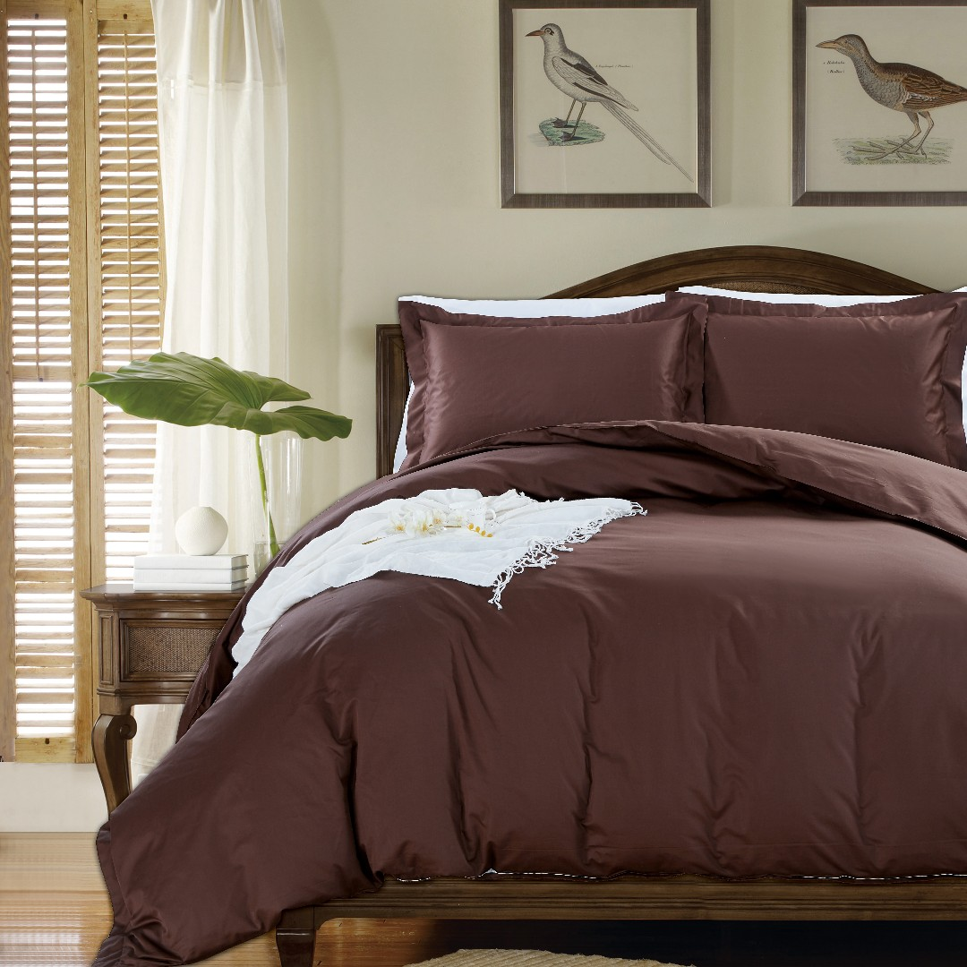 Rhc Sateen Plain Series Chocolate Brown Bed Set Furniture Home Decor On Carousell