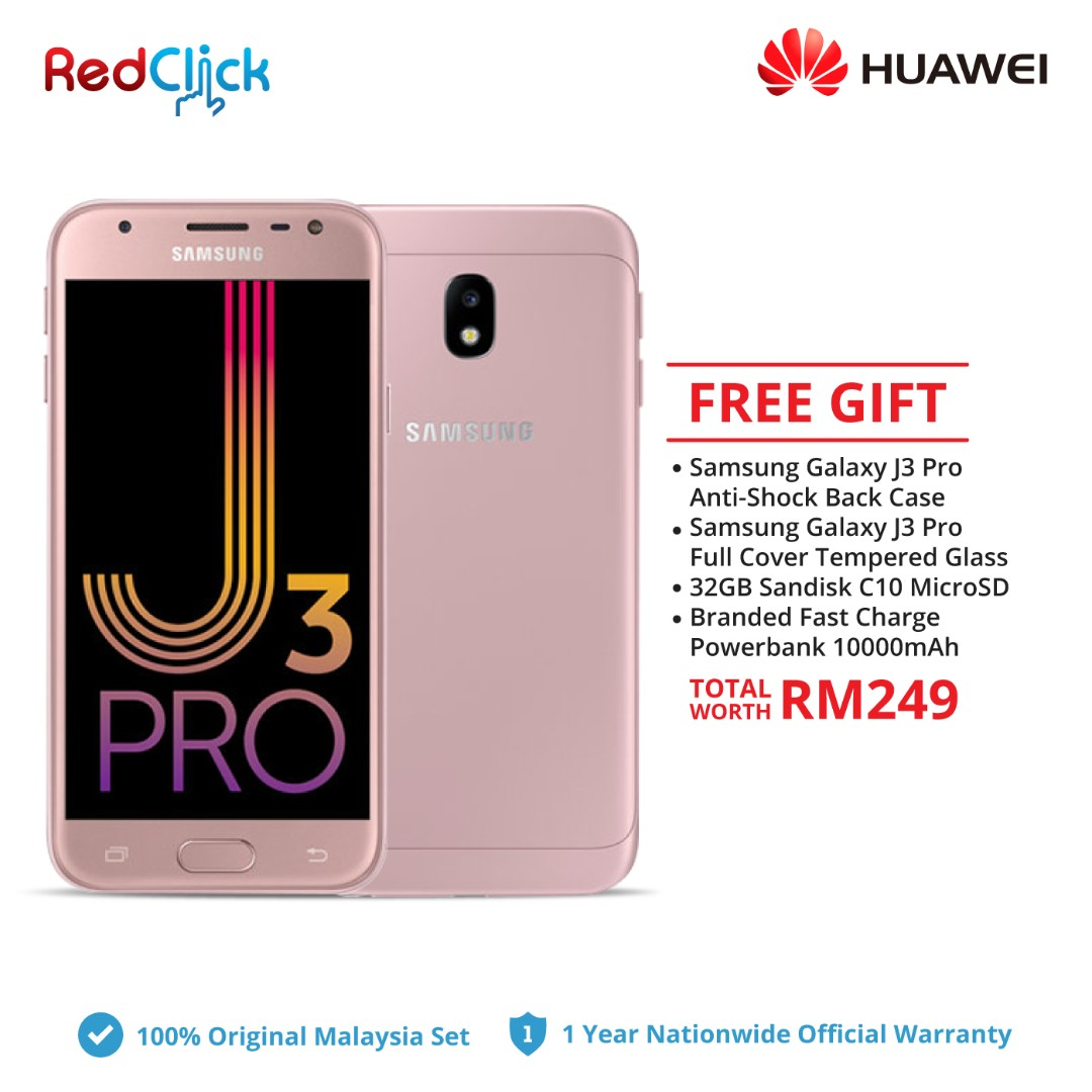 Samsung Galaxy J3 Pro 2gb 16gb Original Malaysia Set Mobile Tempered Glass Full Color Cover Phones Tablets Android On Carousell