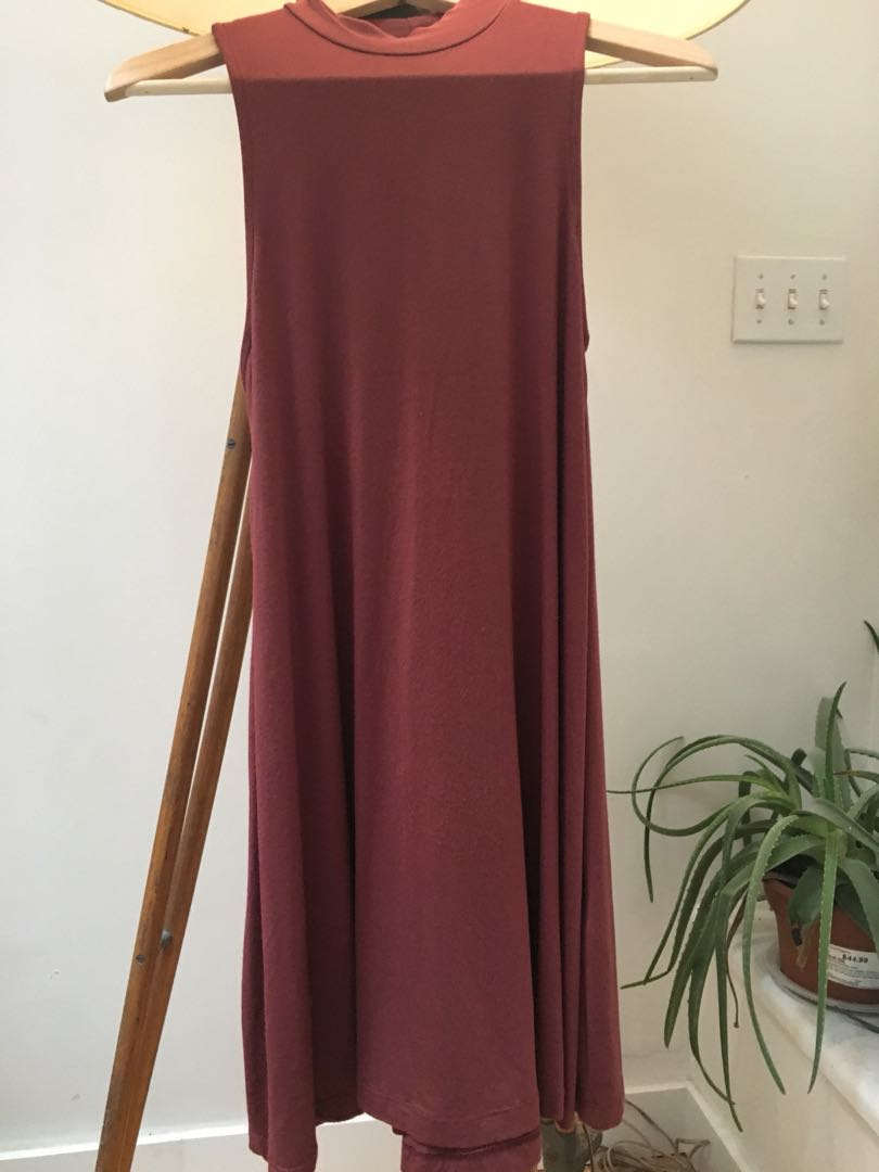Urban outfitters burgundy dress