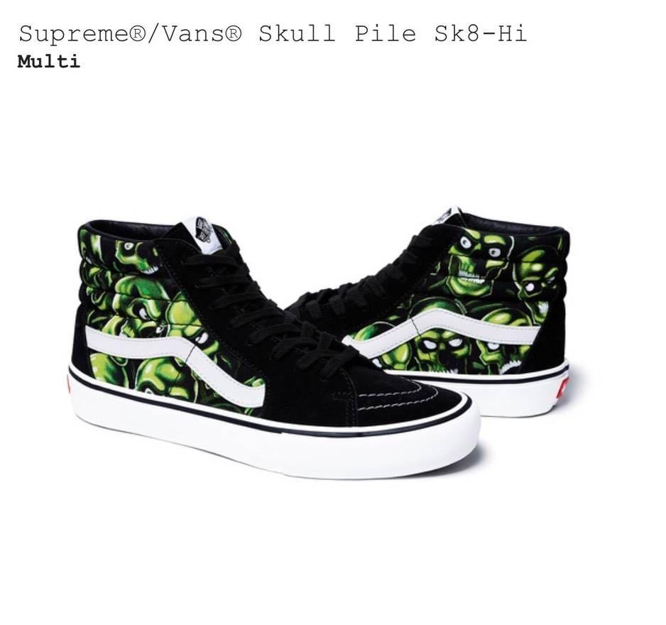 bd4bf22a2c4eda Vans Sk8-Hi Supreme Skull Pile