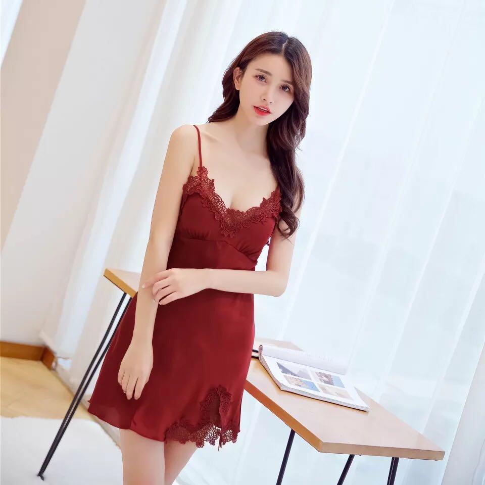Velvet Lingerie Dress 227a45068