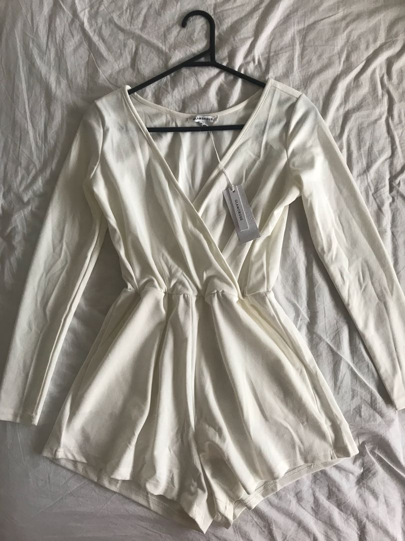 White playsuit XS